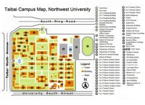Northwest University Campus Map