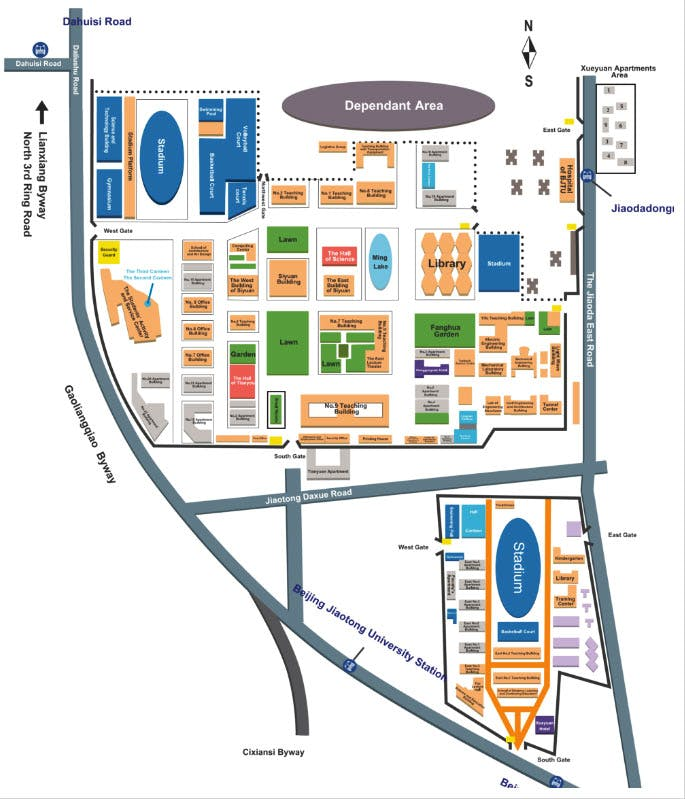Beijing Jiaotong University campus map