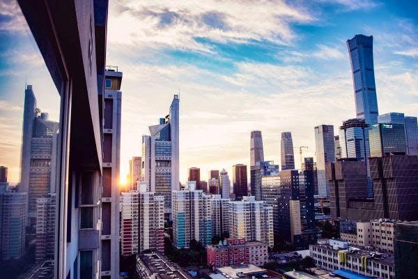 Ariel View of Beijing City